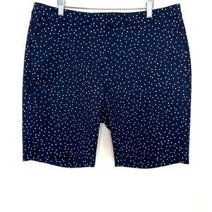 "Boden Navy White Polka Dot Richmond 9"" Shorts"